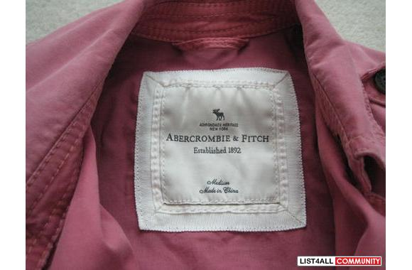 ***New Abercrombie & Fitch Rose Belted Trench, Sz: M***