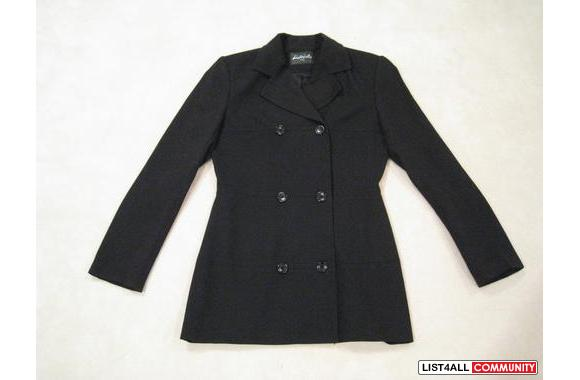 ***Districts Black Double-Breasted Jacket, Sz: S***