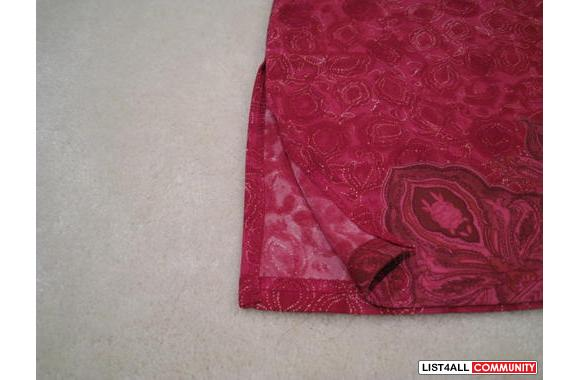 ***Jacob Raspberry Flower Print Skirt, Sz: 3/4***