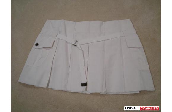 ***New Bcuche a Bouche White Mini-Skirt, Sz: 38***