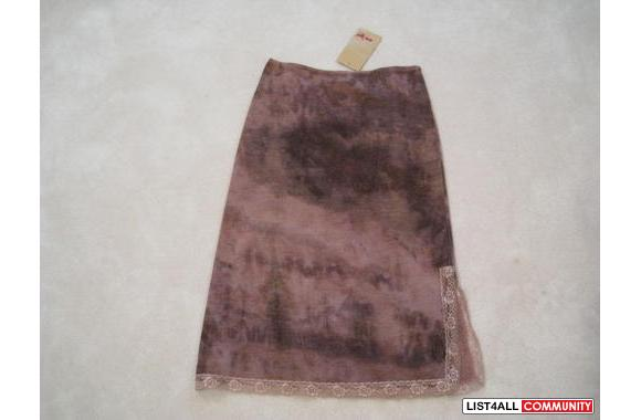 ***NWT An'ge Soft A-line Lotus Skirt W/ Lace, Sz: T2***