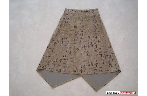 ***Brown Velvet-Felt 3/4 Skirt, Sz: M***