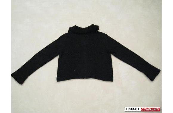 ***Sisley Wool Black Bottom up Sweater, Sz: M***