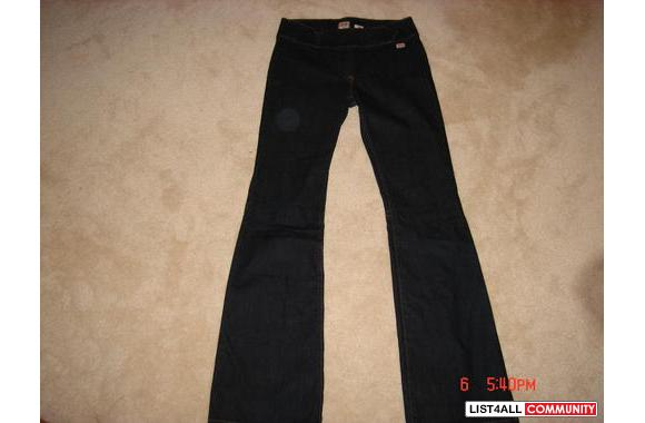 ***New Miss Sixty Dark Blue Jeans W/ Zipper, Sz: 29***