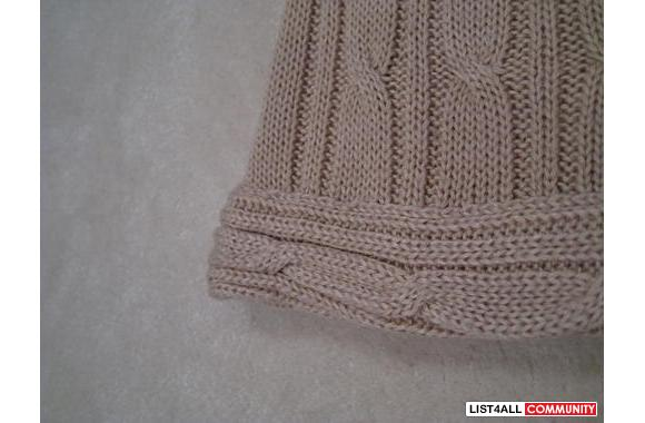 ***Capiron Roots Beige Knitted Sweater, Sz: S/M***