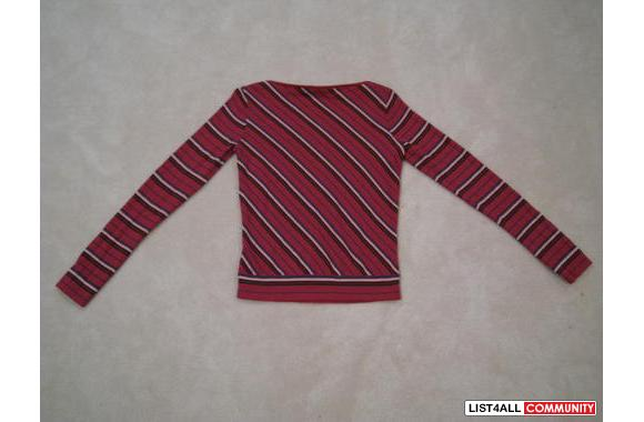 ***Armani Exchange Raspberry Stripped Sweater, Sz: S***