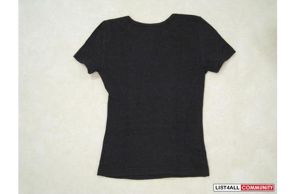 ***Eckored Black Casual T-shirt, Sz: S***
