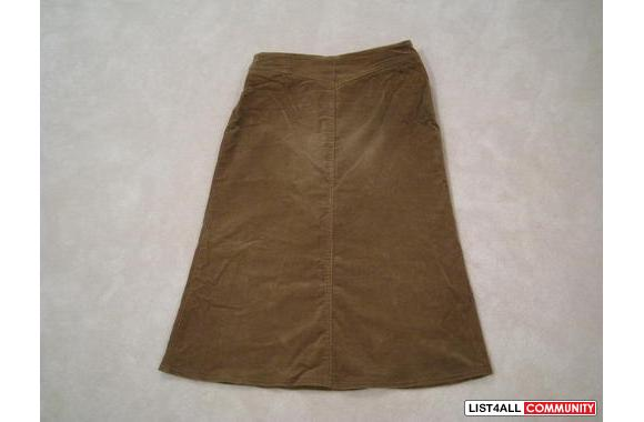 ***Paris Brown Velvet Skirt W/ Belt, Sz: 2***