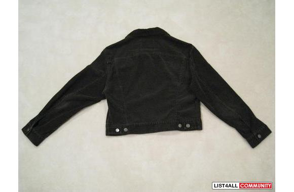 ***4-Button Velvet-like Black Jacket, Sz: M/L***