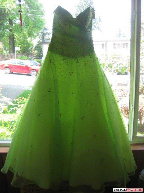 Green Princess Style Prom Dress Size S