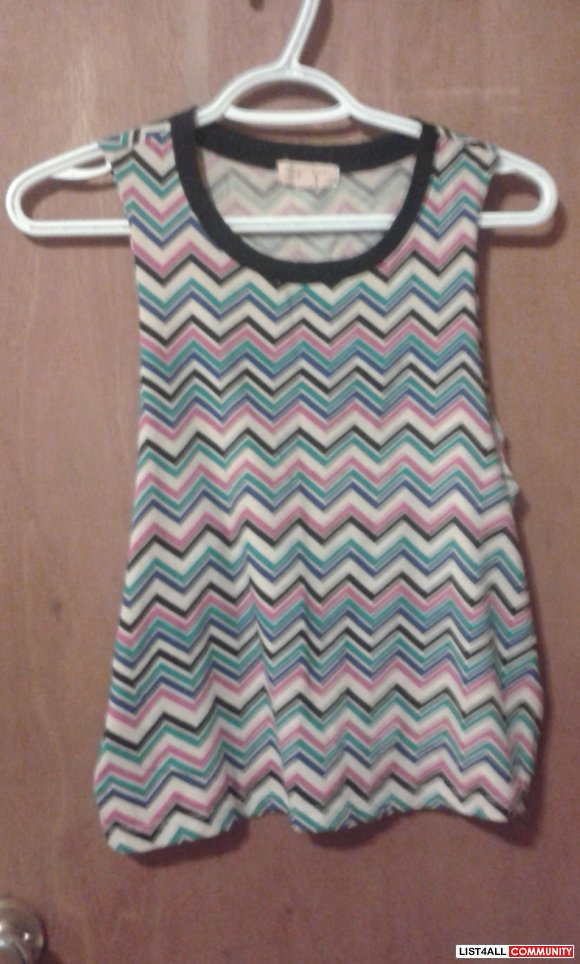 XXI Forever 21 Aztec Tribal Muscle Shirt Top Size S