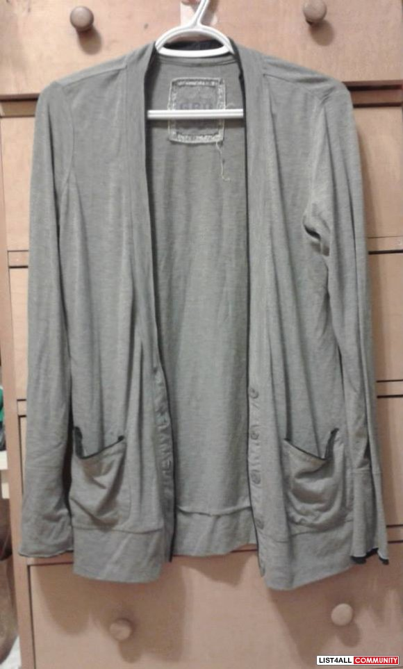 Garage Grey Cardigan Size M