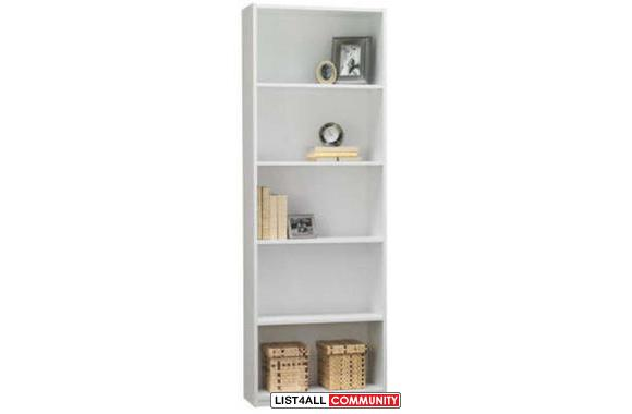 95% New 5 Shelf Bookcase