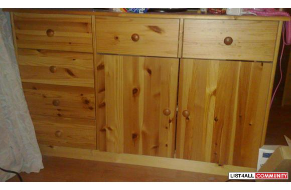 95 New Jysk Like Ikea Quality Solid Pinewood Cabinet Or