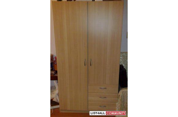 90% New Ikea Wardrobe Closet, Clothes & Shoes Storage Cabi