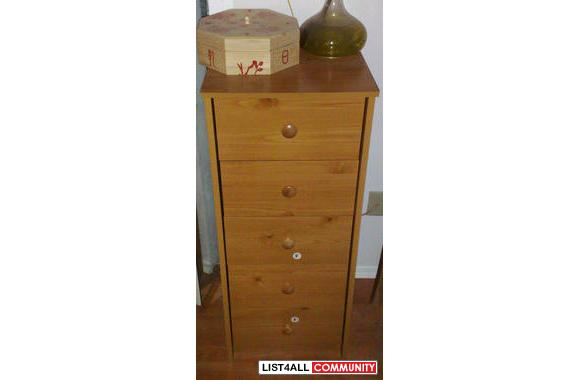 98% New Lingerie's Chest 5-drawers