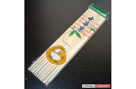 100% Brand New Bamboo Chopsticks Sealed in Retail Package
