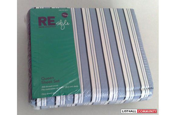 100% Brand New Queen Size Fitted Sheet Set