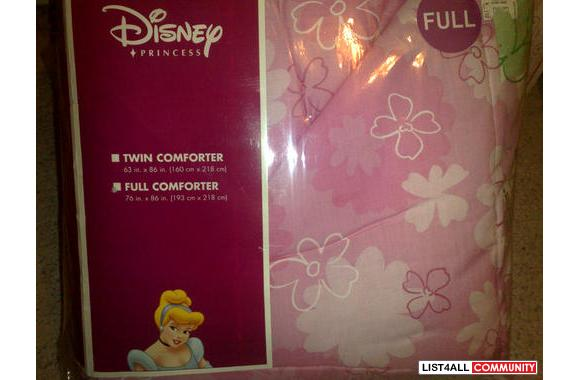 Brand New Disney Princess--Full Size or Double Comforter