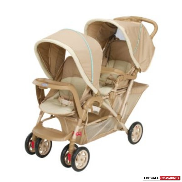 New in box Graco double child baby stroller