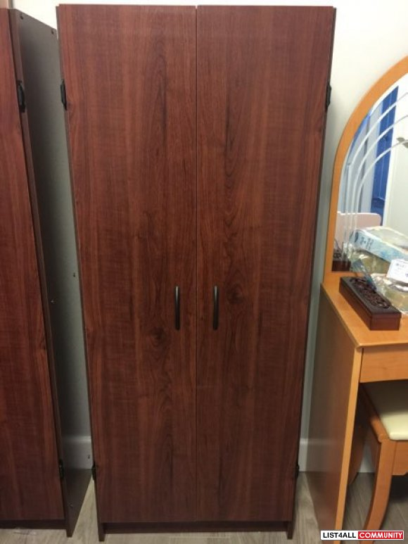 Mint new bookcase cabinet with doors