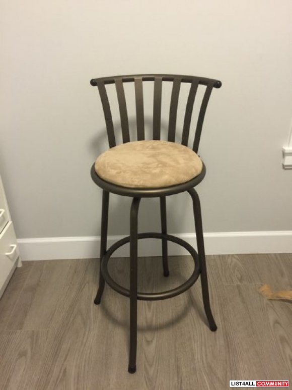 New metal bar stool great for island in kitchen
