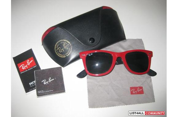 original ray ban case  Authentic Ray Ban Wayfarer glasses in Red :: glitterpony :: List4All