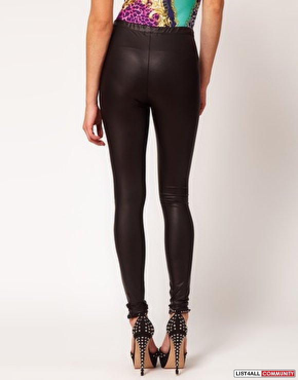 NWT- ASOS Matte Rubber Leggings Petite 8UK