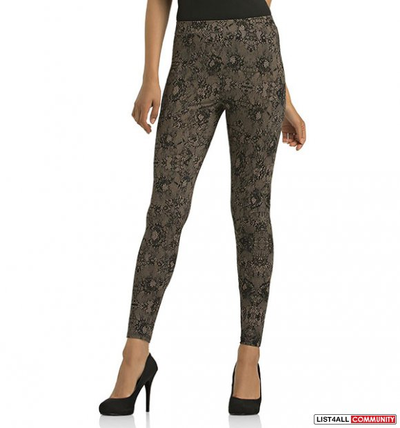 KARDASHIAN KOLLECTION WOMEN'S LEGGINGS- LACE PRINT XS
