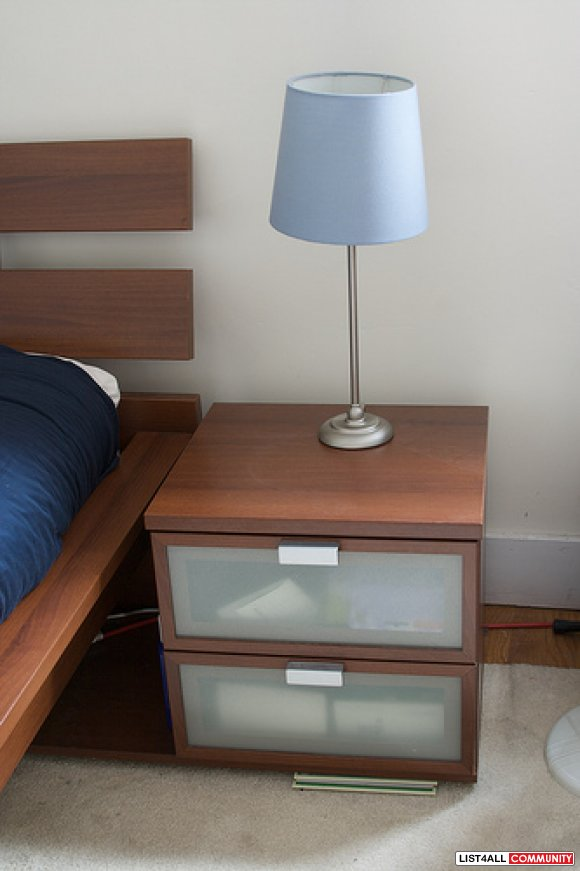 pair of ikea hopen nightstand left and right goodeal list4all. Black Bedroom Furniture Sets. Home Design Ideas