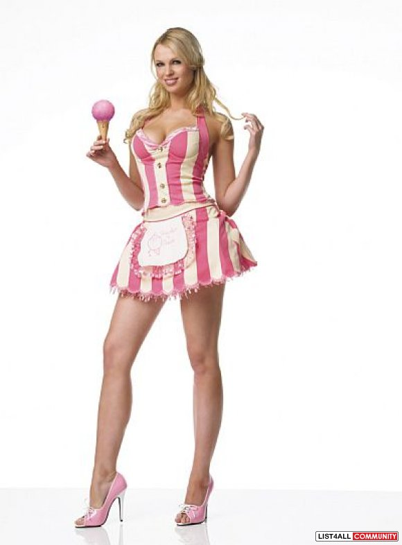 2 PC Ice Cream Parlor Girl Costume