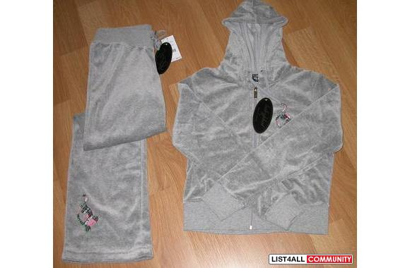 BABY PATH 2 PCS NEW WITH TAGS SIZE SMALL - SOFT GREY VELUOR - &nb