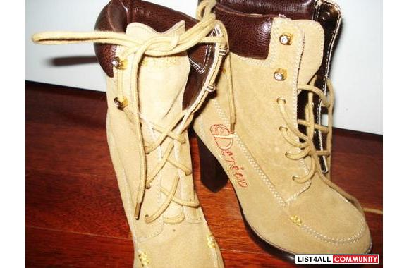 DEREON TIMBALAND SHOES with heels**hot