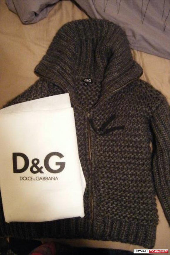 DOLCE GABBABA grey sweater $180 obo