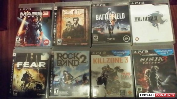 PS3 games - $15 each
