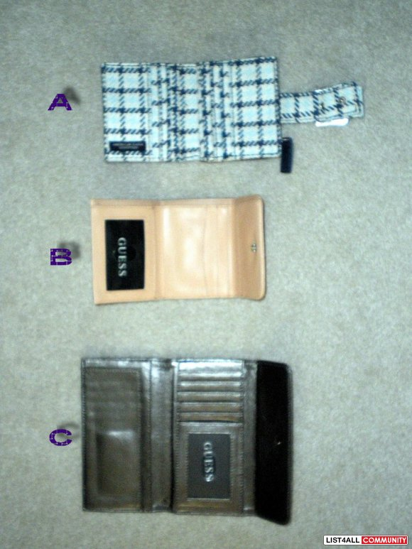 American Eagle and Guess Wallets