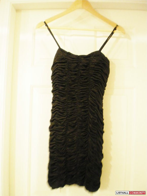 XXI Black with Gold accent Mini Dress size S