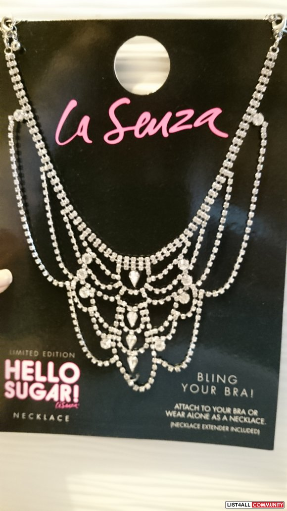 La Senza Hello Sugar Bling It Necklace/Bra Decor
