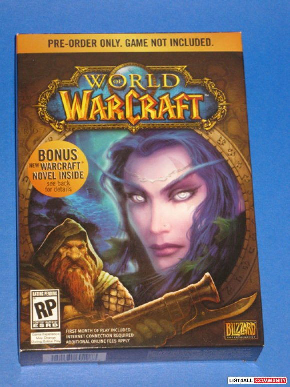 World of Warcraft Promotional Pre-Order Boxed Novel