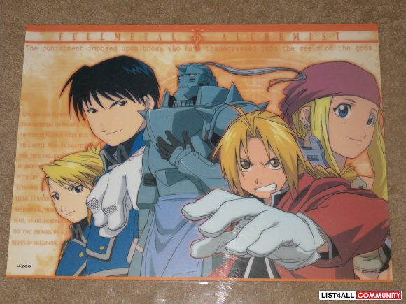Anime Poster - Fullmetal Alchemist Group
