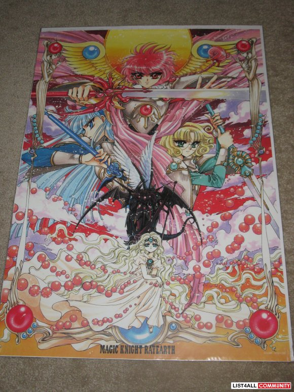 Anime Poster - Magic Knight Rayearch Manga Illustration by CLAMP