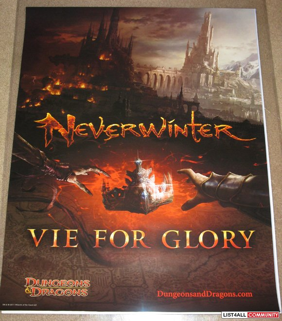 Dungeons & Dragons: NeverWinter Promotional Game Poster PAX Prime