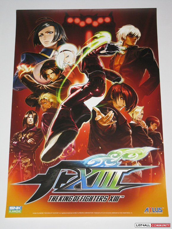 King of Fighters XIII 13 Promotional Game Poster PAX Prime 2011