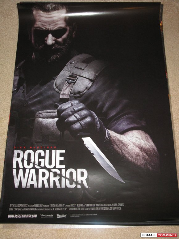 Rogue Warrior Game Promotional Poster PAX Prime 2010