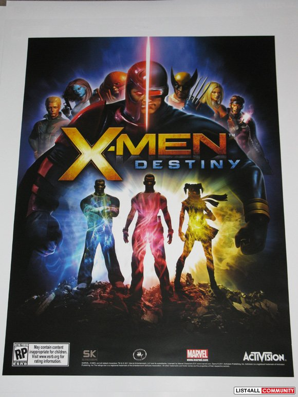 X-Men Destiny Promotional Game Poster Marvel Activision PAX Prime 2011