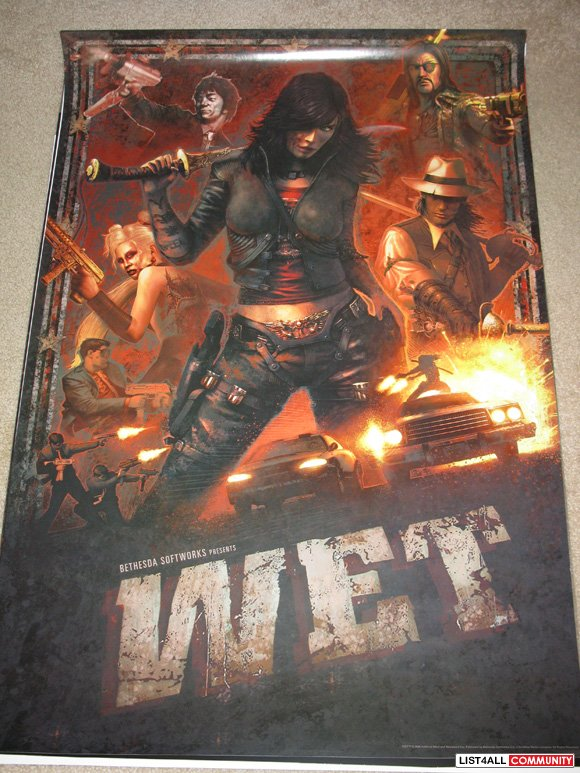 WET Promotional Game Poster Bethesda Promo Swag PAX Prime 2009