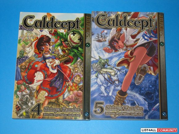Lot of Tokyopop Culdcept Manga Graphic Novels Books Vol. 4 & 5