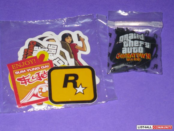 Rock Star Games Stickers + Cellphone Cleaner Charm PAX Prime 2012