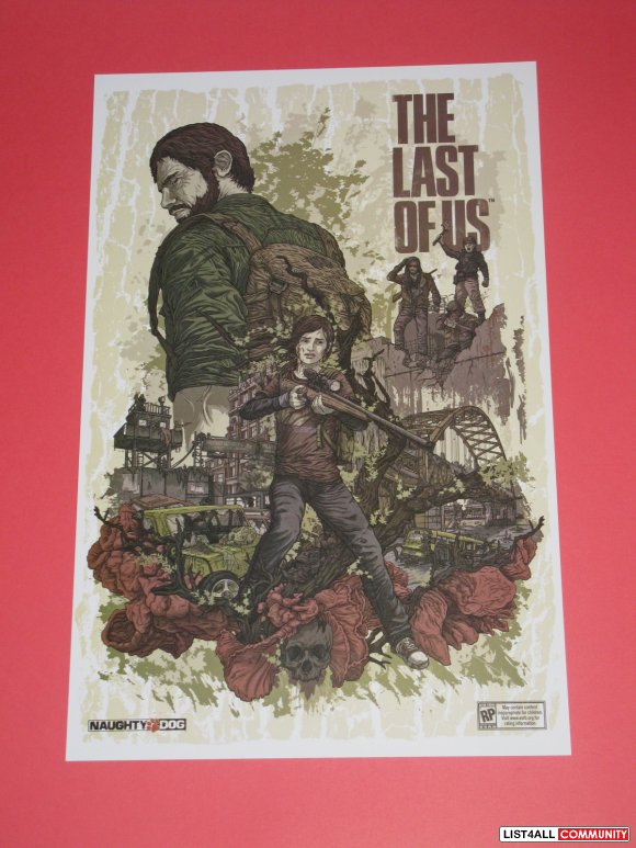 Last of Us Game Poster Print Naughty Dog Promo PAX Prime 2012 *