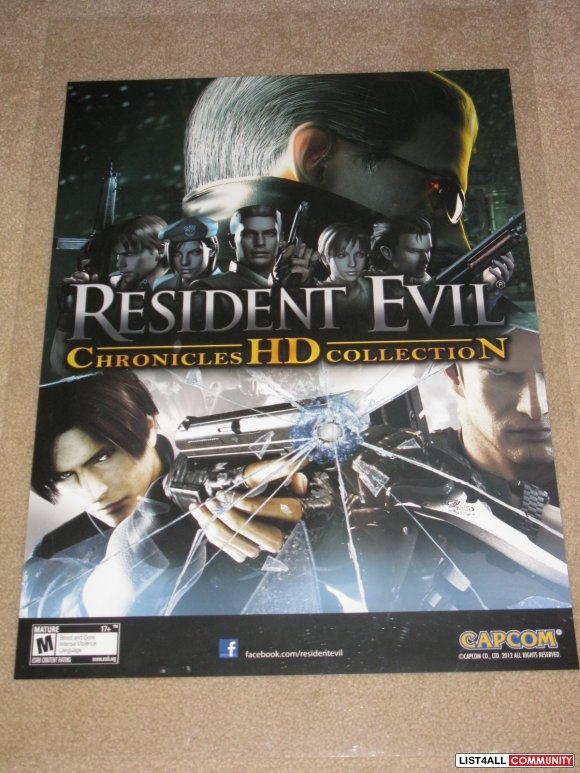 Resident Evil Chronicles HD Collection Poster Capcom Promo PAX Prime 2